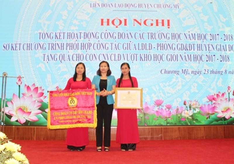 ldld huyen chuong my tong ket hoat dong cong doan cac truong hoc nam hoc 2017 2018
