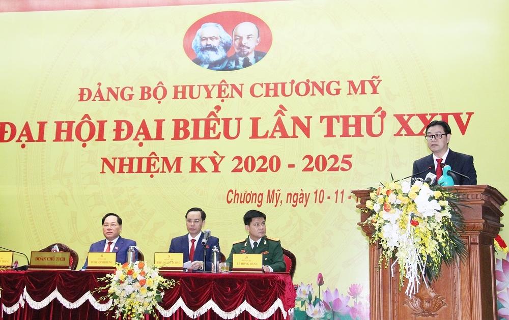 Ông Nguyễn Văn Thắng tái đắc cử chức Bí thư Huyện ủy Chương Mỹ