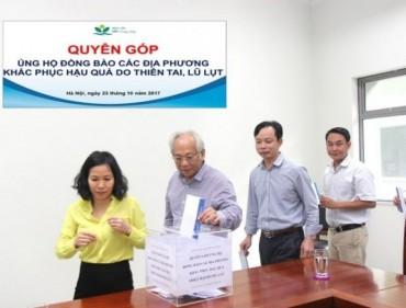 Bệnh viện Nhi Trung ương: Quyên góp, ủng hộ đồng bào bị thiệt hại do mưa lũ