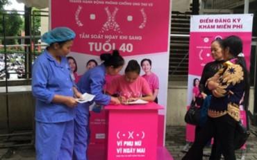 1000 phụ nữ sẽ được miễn phí khám sàng lọc phát hiện sớm ung thư vú