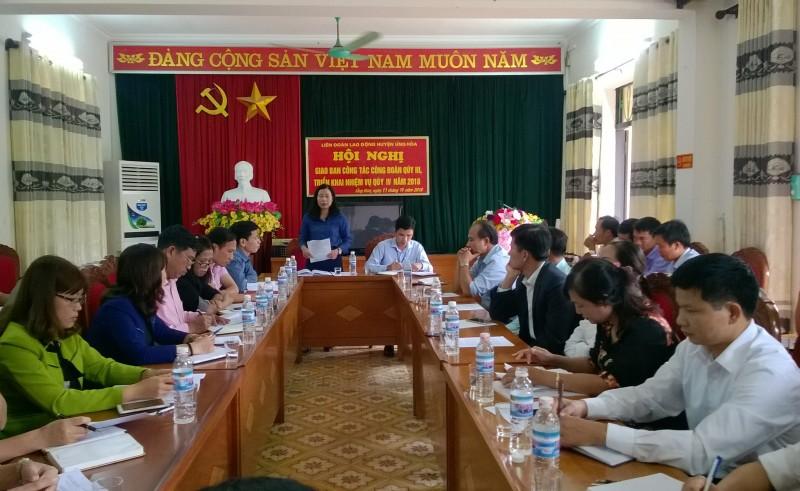 LĐLĐ huyện Ứng Hoà: Thiết thực các hoạt động hướng về người lao động