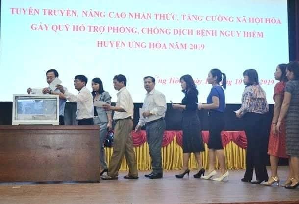 Huyện Ứng Hòa đẩy mạnh công tác hỗ trợ phòng chống dịch, bệnh nguy hiểm