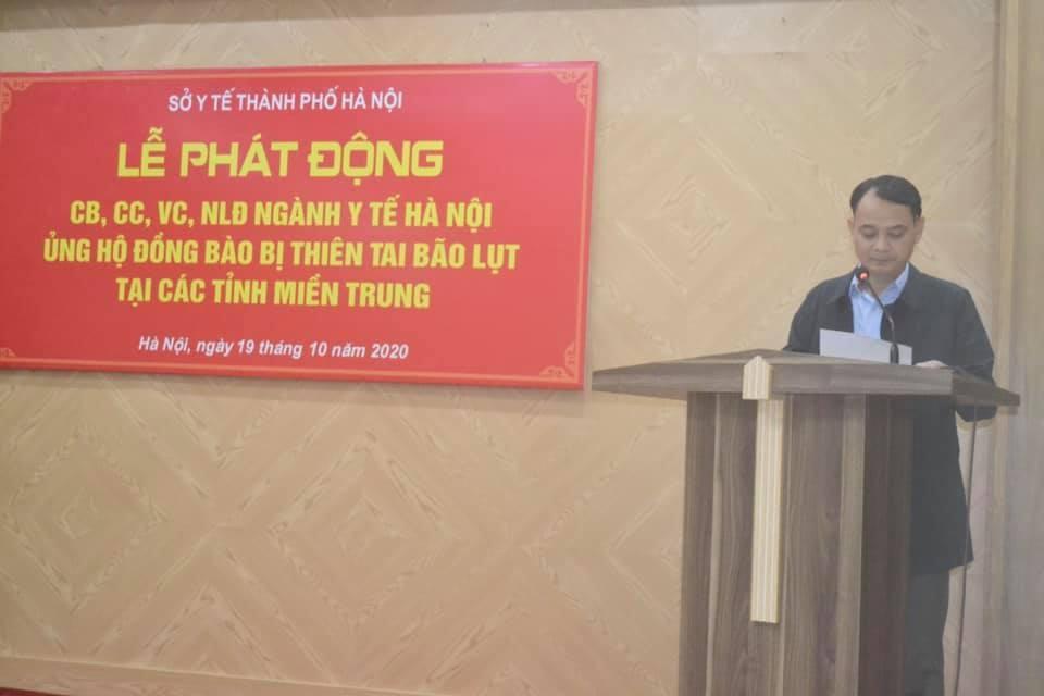 Ngành Y tế Hà Nội: Chung tay ủng hộ đồng bào miền Trung bị ảnh hưởng bởi bão lụt