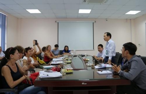 Bệnh viện Đa khoa Đức Giang: Tiếp đoàn ADCV sang thăm và làm việc
