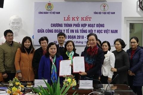 Công đoàn Y tế Việt Nam - Tổng hội Y học Việt Nam ký chương trình phối hợp