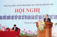 Đoàn đại biểu Quốc hội Thành phố Hà Nội tiếp xúc cử tri huyện Chương Mỹ