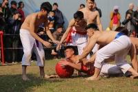Sôi nổi, quyết liệt lễ hội vật cầu làng Thuý Lĩnh