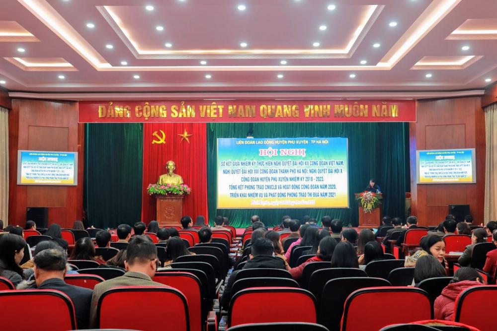 Hội nghị tổng kết hoạt động công đoàn huyện Phú Xuyên năm 2020