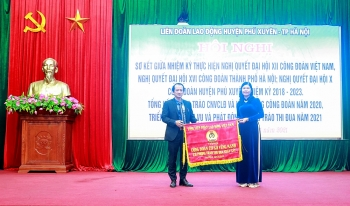 Liên đoàn Lao động huyện Phú Xuyên tổng kết công tác Công đoàn năm 2020