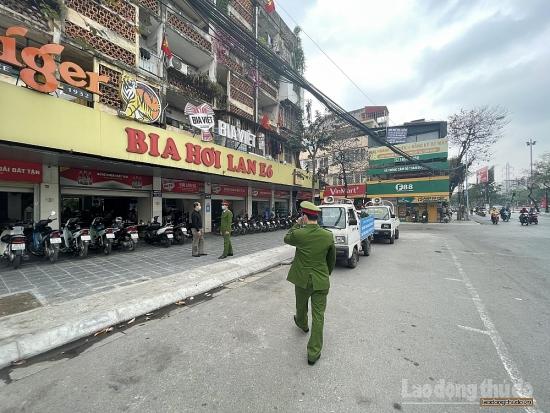 Công an quận Hai Bà Trưng xử lý vi phạm phòng, chống dịch báo Lao động Thủ đô đã phản ánh