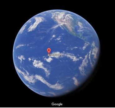 Đã tìm được Skull Island (Đảo đầu lâu)  trên Google Map
