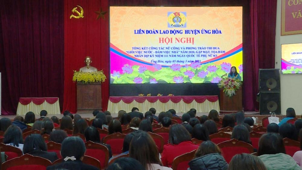 Liên đoàn Lao động huyện Ứng Hòa tổ chức nhiều hoạt động kỷ niệm 111 năm ngày Quốc tế Phụ nữ