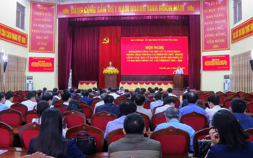 Huyện Ứng Hòa phát động thi đua cao điểm chào mừng thành công bầu cử đại biểu Quốc hội khóa XV