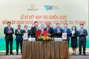 Tập đoàn Hưng Thịnh và Đại học Quốc gia Thành phố Hồ Chí Minh ký kết hợp tác chiến lược