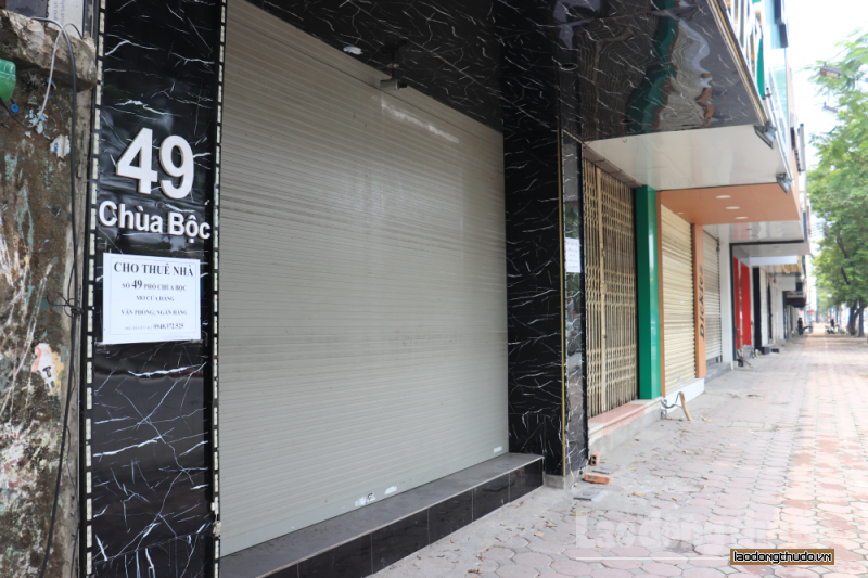 Ảnh hưởng dịch Covid-19, hàng loạt cửa hàng treo biển cho thuê