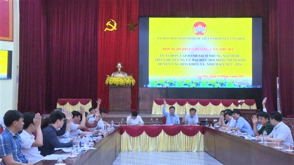 Huyện Ứng Hòa: Tích cực triển khai công tác chuẩn bị bầu cử