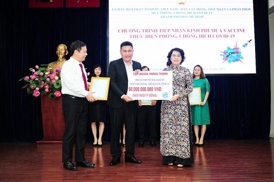 Tập đoàn Hưng Thịnh trao tặng 50 tỷ đồng kinh phí mua vắc-xin phòng ngừa Covid-19