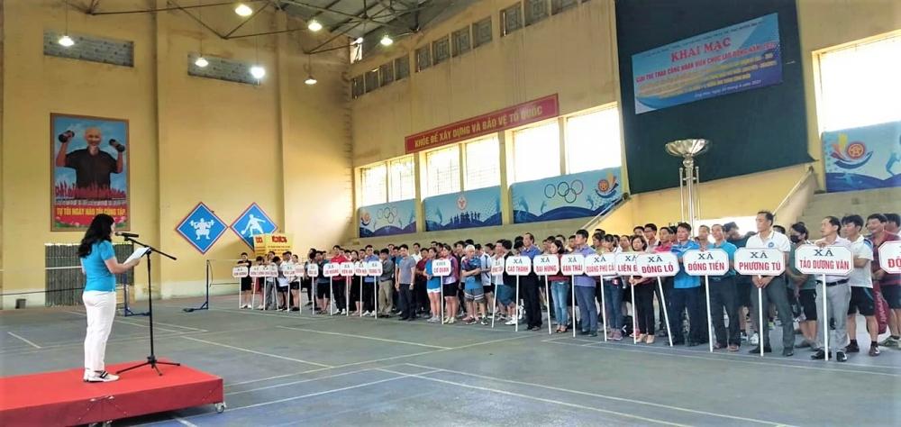 Sôi nổi Hội thao công nhân viên chức lao động huyện Ứng Hòa năm 2021