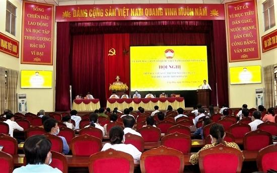 Ứng cử viên đại biểu Quốc hội tiếp xúc cử tri huyện Ứng Hòa