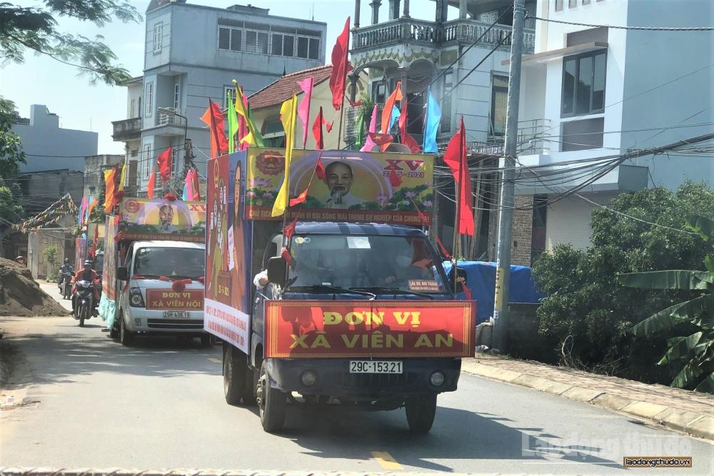 Huyện Ứng Hòa đẩy mạnh tuyên truyền công tác bầu cử, chủ động phòng, chống Covid-19