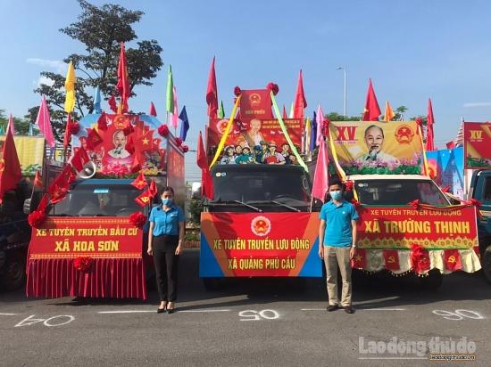 Huyện Ứng Hòa đẩy mạnh tuyên truyền công tác bầu cử