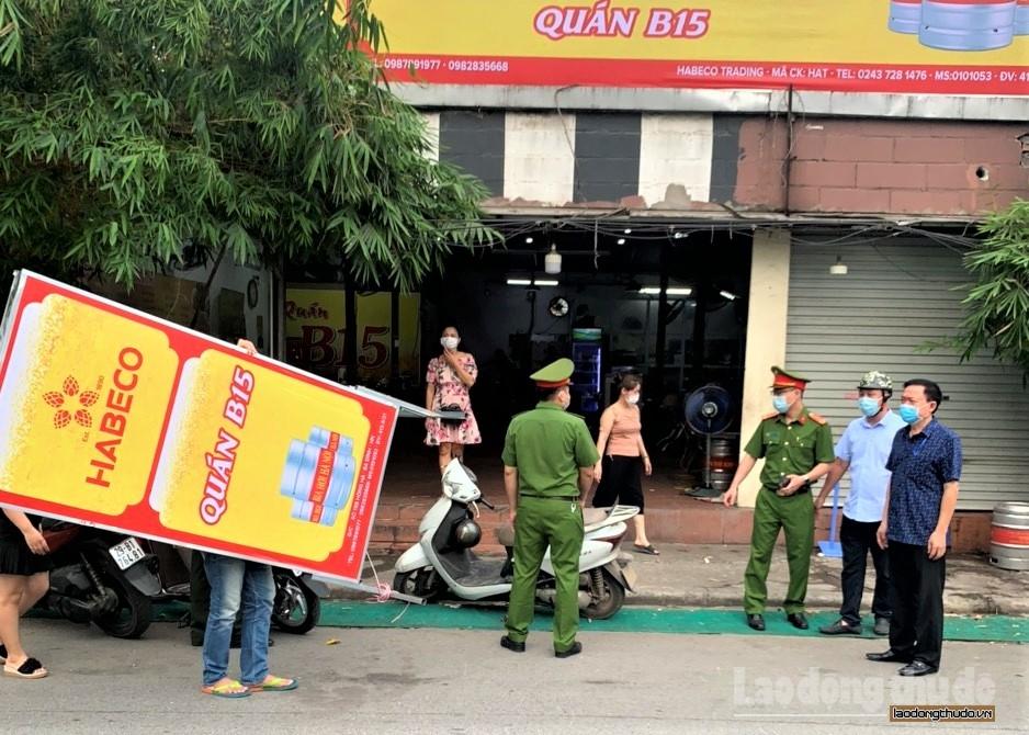 Quận Ba Đình: Quyết liệt xử lý vi phạm về phòng, chống dịch Covid-19