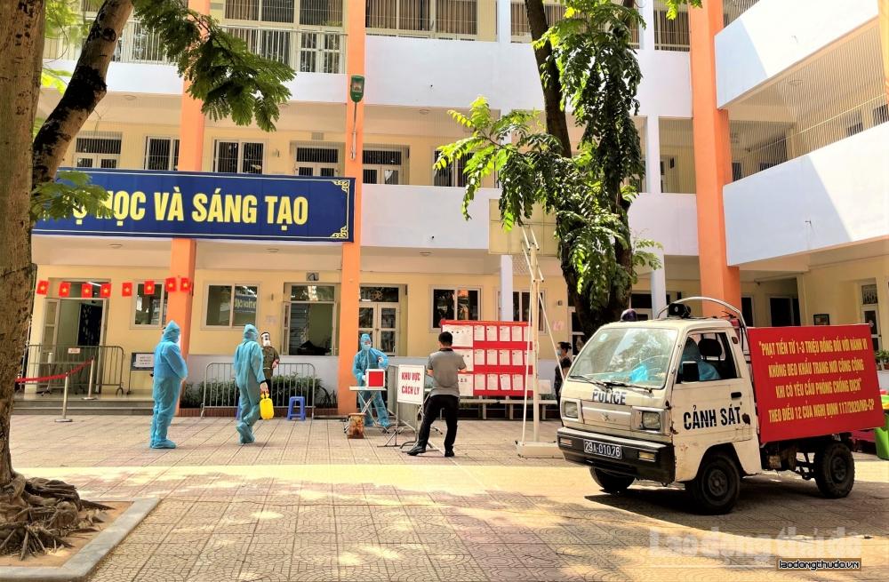 Quận Ba Đình: Diễn tập phương án đảm bảo an toàn cho ngày bầu cử