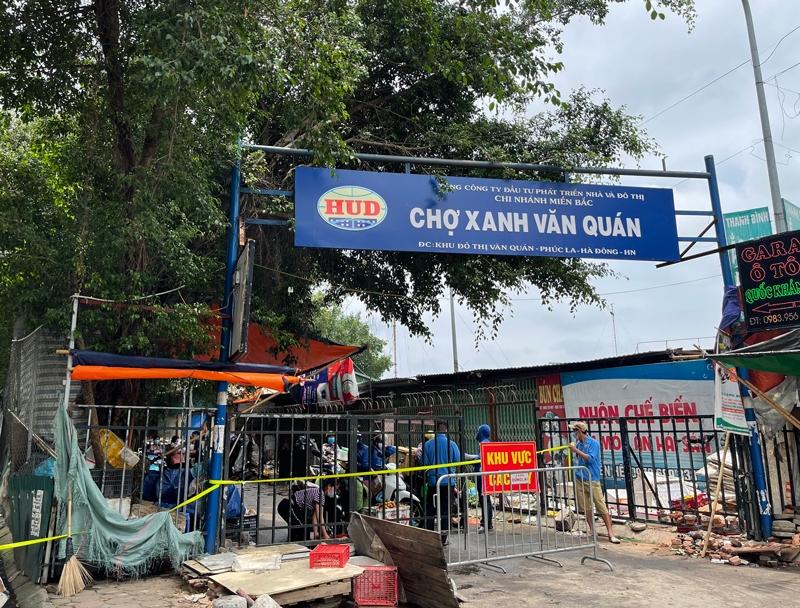 Phong tỏa tạm thời chợ Xanh Văn Quán do có ca F0 đến mua sắm ngày 24/5