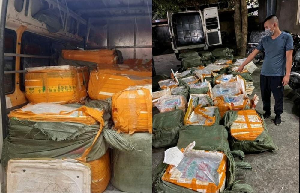 Hà Nội: Thu giữ hơn 1 tấn nầm lợn không rõ nguồn gốc chuẩn bị tiêu thụ tại chợ Nhật Tân