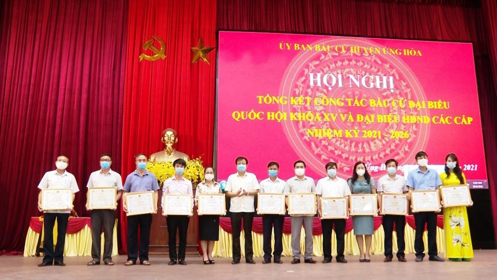 Huyện Ứng Hòa: Tổng kết công tác bầu cử, rút kinh nghiệm cho những nhiệm kỳ sau