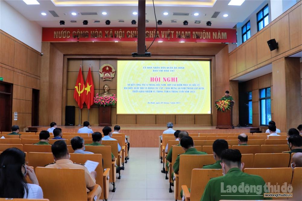 Quận Ba Đình: Sơ kết công tác 6 tháng đầu năm và triển khai nhiệm vụ thời gian tới