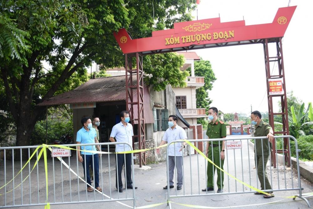 Huyện Ứng Hòa: Khoanh vùng, cách ly 21 ngày toàn bộ thôn Thái Hòa