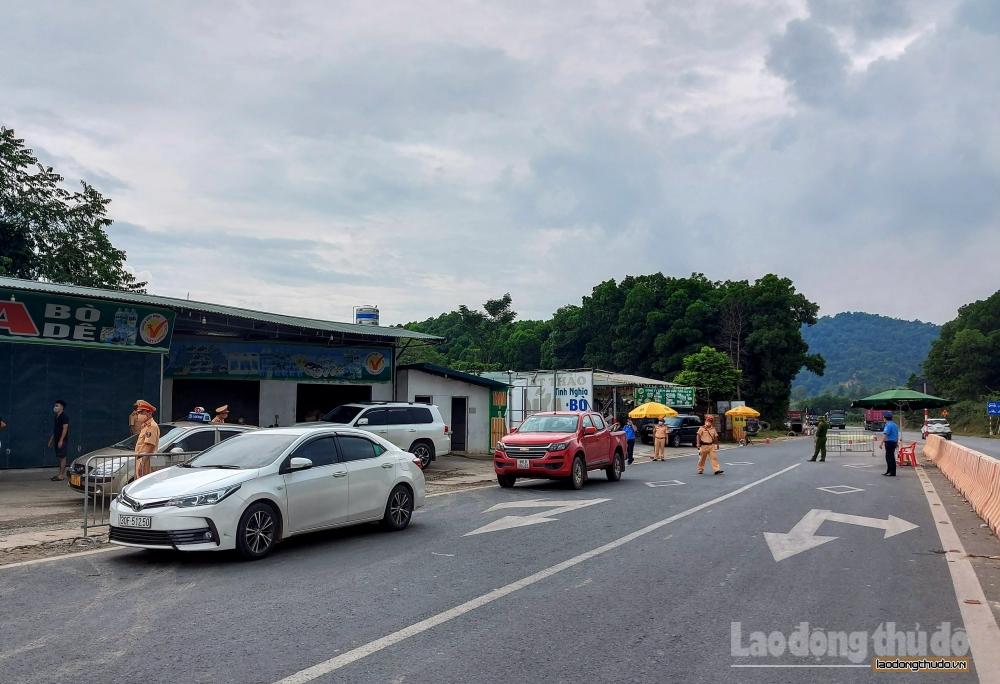 Hà Nội: Triển khai thêm chốt phòng, chống Covid-19 tại cửa ngõ Thủ đô