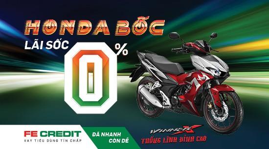 Mua xe Honda trả góp lãi xuất sốc chỉ từ 0% với FE Credit