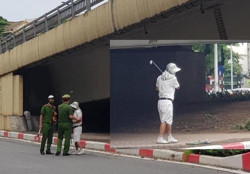 Ra gầm cầu tập đánh golf, cụ ông nhận biên lai phạt 1 triệu đồng