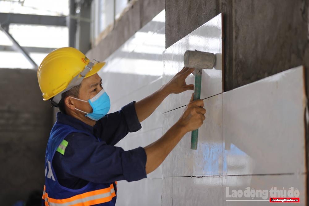 Bệnh viện dã chiến Yên Sở (Hoàng Mai) bước vào giai đoạn hoàn thiện