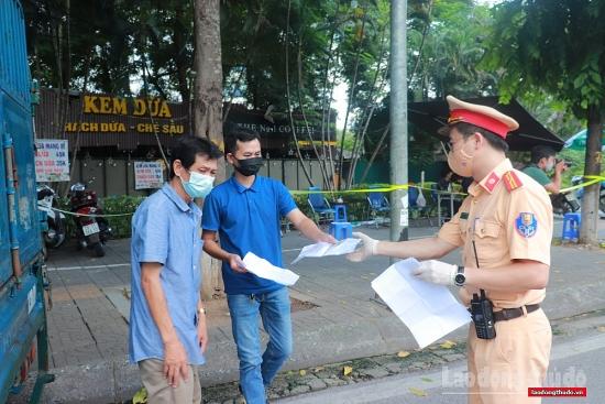24 giờ qua, Hà Nội xử phạt 170 trường hợp vi phạm quy định phòng, chống dịch