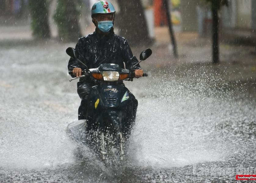 Áp thấp nhiệt đới có khả năng mạnh lên thành bão sẽ gây mưa to ở các tỉnh miền Trung