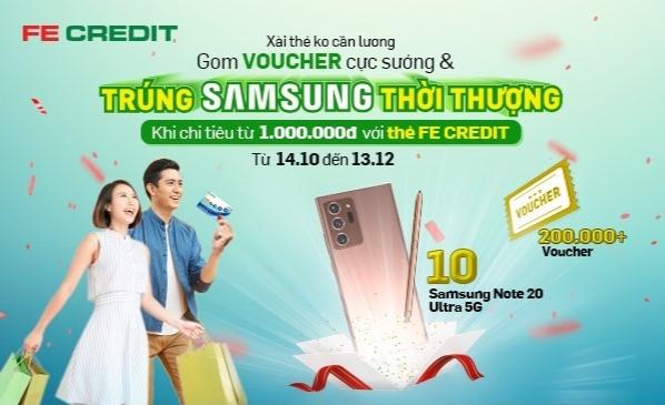 """Triển khai chương trình """"xài thẻ không cần lương - gom voucher cực sướng - trúng Samsung thời thượng"""""""