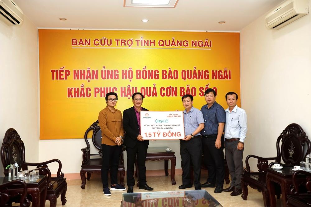 Tập đoàn Hưng Thịnh ủng hộ 3 tỷ đồng, giúp người dân Quảng Nam và Quảng Ngãi bị thiệt hại do bão số 9