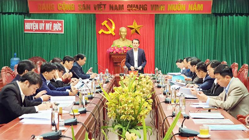 Kiểm tra công tác chuẩn bị đại hội đảng bộ các cấp ở các địa phương