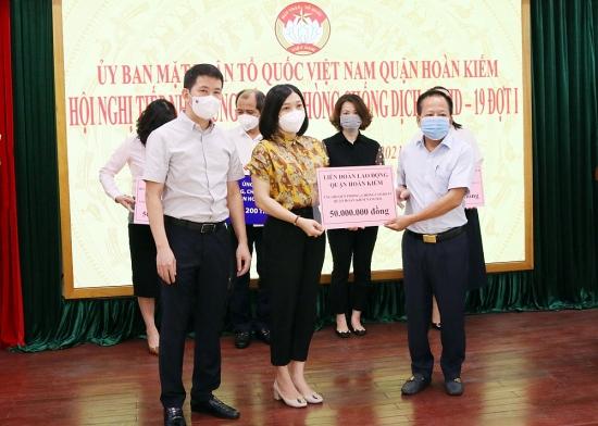 Liên đoàn Lao động quận Hoàn Kiếm: Chung sức, đồng lòng phòng, chống dịch hiệu quả