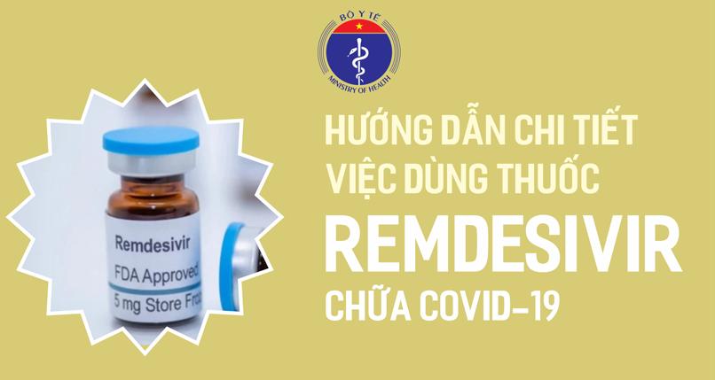 Infographic: Hướng dẫn chi tiết việc dùng thuốc Remdesivir chữa Covid-19
