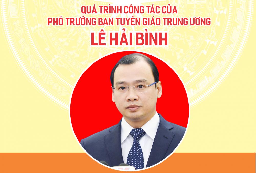 Quá trình công tác của Phó Trưởng Ban Tuyên giáo Trung ương Lê Hải Bình