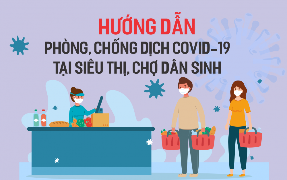 Infographic: Hướng dẫn công tác phòng, chống dịch tại siêu thị, chợ dân sinh
