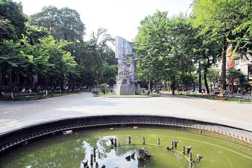 Vườn hoa Hàng Đậu, không gian xanh giữa lòng phố cổ