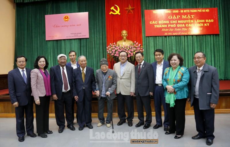 Hà Nội tổ chức gặp mặt, chúc tết nguyên lãnh đạo Thành phố qua các thời kỳ