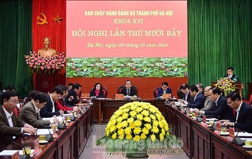 Khai mạc Hội nghị lần thứ 17 Ban Chấp hành Đảng bộ TP Hà Nội