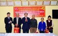 Bí thư Thành ủy Hà Nội Hoàng Trung Hải tặng quà Tết tại huyện Chương Mỹ