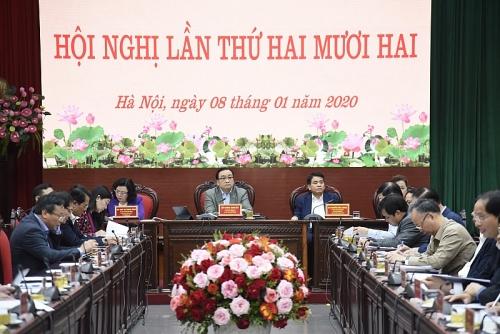 Hội nghị lần thứ 22 Ban Chấp hành Đảng bộ thành phố Hà Nội khóa XVI